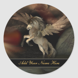 Pegasus Bookplate Stickers