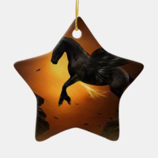 Pegasus Ceramic Star Decoration