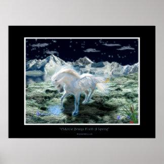PEGASUS Fantasy Book Art Poster