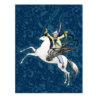 Pegasus Flying Horse Fantasy Postcard