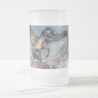 Pegasus Frosted Glass Mug