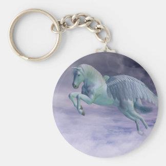 Pegasus Galloping through Storm Clouds Key Ring