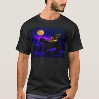 Pegasus golden horse with wings T-Shirt