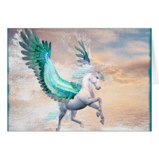 Pegasus Greeting Card & Envelope, You Customize!