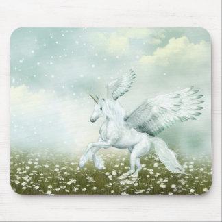 Pegasus in daisies mouse pad