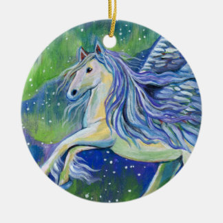 Pegasus In Northern Light Christmas Ornament