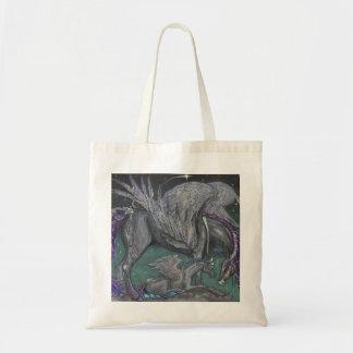 Pegasus mom and baby tote bag