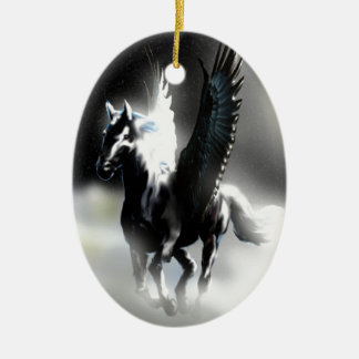 Pegasus of the Moon Christmas Ornament