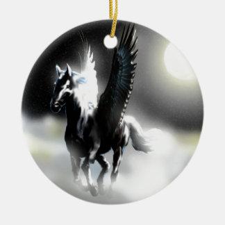 Pegasus of the Moon Christmas Ornament