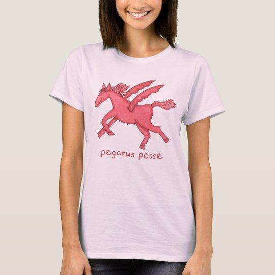 Pegasus Posse Pale Pink Women's Basic T-Shirt