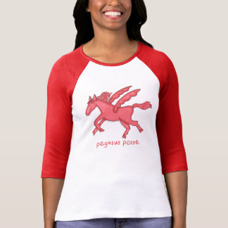 Pegasus Posse Women's 3/4 Sleeve Raglan T-Shirt
