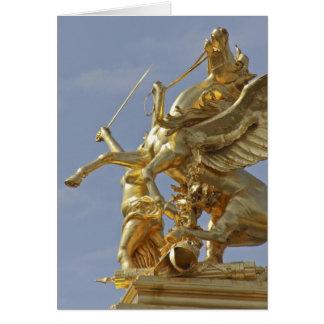 Pegasus statue at the Pont Alexander III bridge Card