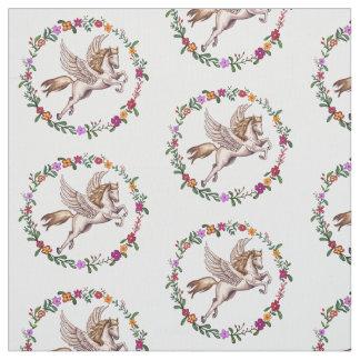 Pegasus the Winged Horse of Greek Mythology Fabric