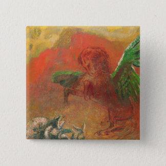 Pegasus Triumphant 15 Cm Square Badge