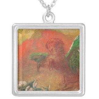 Pegasus Triumphant Silver Plated Necklace