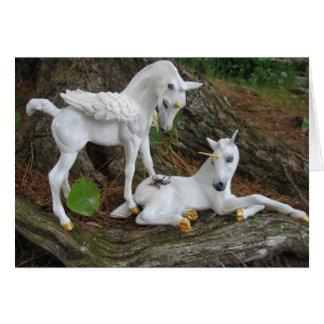 Pegasus & Unicorn Foals Card
