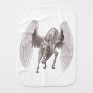 Pegasus Unicorn Winged Horned Horse Baby Burp Cloth