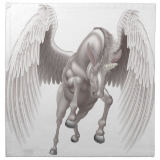 Pegasus Unicorn Winged Horned Horse Napkin