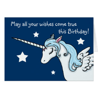 Pegasus Unicorn Wishes Birthday Card