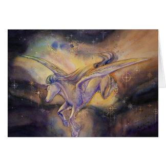 Pegasus With Nebula Card