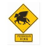 Pegasus XING Postcard