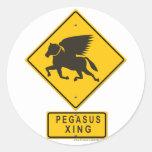 Pegasus XING Round Sticker