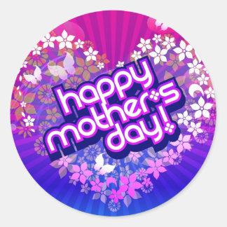 Pegatina Dia de la Madre Round Sticker