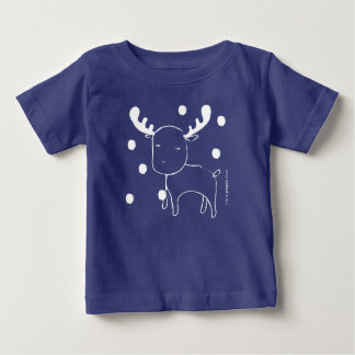 Pegeo Woodland Forest Reindeer Colour Baby T-Shirt
