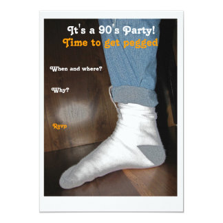 Pegged 90's Party Card