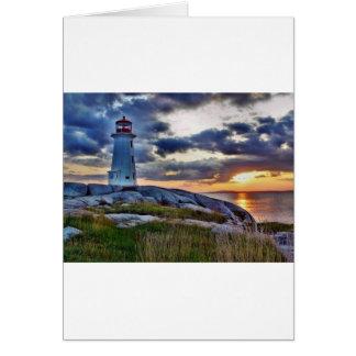Peggies Cove Nova Scotia Canada Card