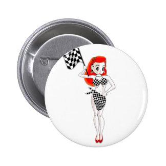 Peggy Pitstop 6 Cm Round Badge