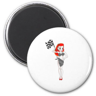 Peggy Pitstop 6 Cm Round Magnet