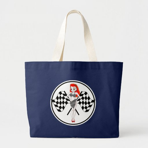 Peggy Pitstop Race Flags Tote Bag