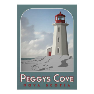 Peggy s Cove Deco Poster