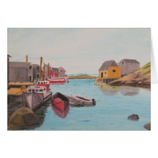 Peggy s Cove Harbor Card