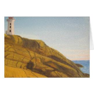 Peggy s Cove Lighthouse - Sunset Card