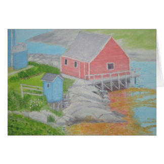 Peggy s Cove Outhouse Greeting Card