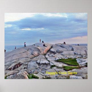 Peggy s Cove Rocks - Nova Scotia Poster