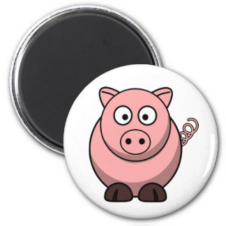 Peggy the Portly Pink Pig Fridge Magnet