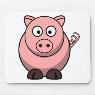 Peggy the Portly Pink Pig Mouse Pad