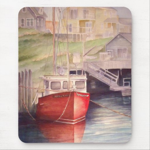 Peggy's Cove Boat Mouse Pad