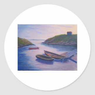 Peggy's Cove Dingies Round Stickers