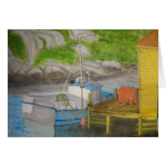 Peggy's Cove - Fishing Boat Greeting Card