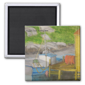 Peggy's Cove - Fishing Boat Square Magnet
