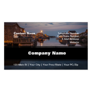 Peggy's Cove Harbour Double-Sided Standard Business Cards (Pack Of 100)