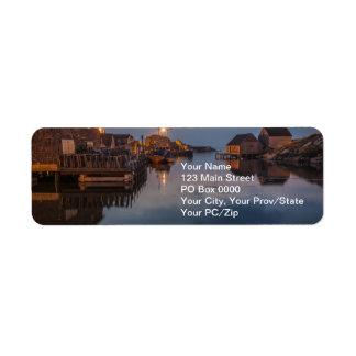 Peggy's Cove Harbour Return Address Label