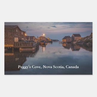 Peggy's Cove Harbour Rectangular Sticker