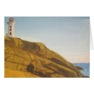 Peggy's Cove Lighthouse at Sunset Greeting Cards