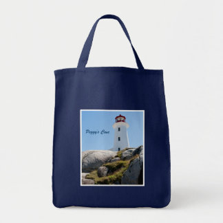Peggy's Cove Lighthouse Tote Bags