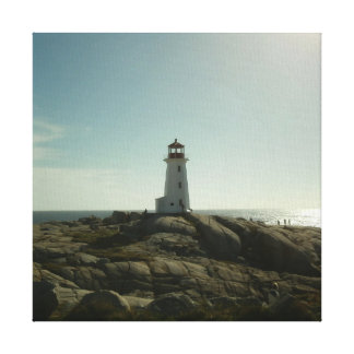Peggy's Cove Lighthouse Stretched Canvas Print